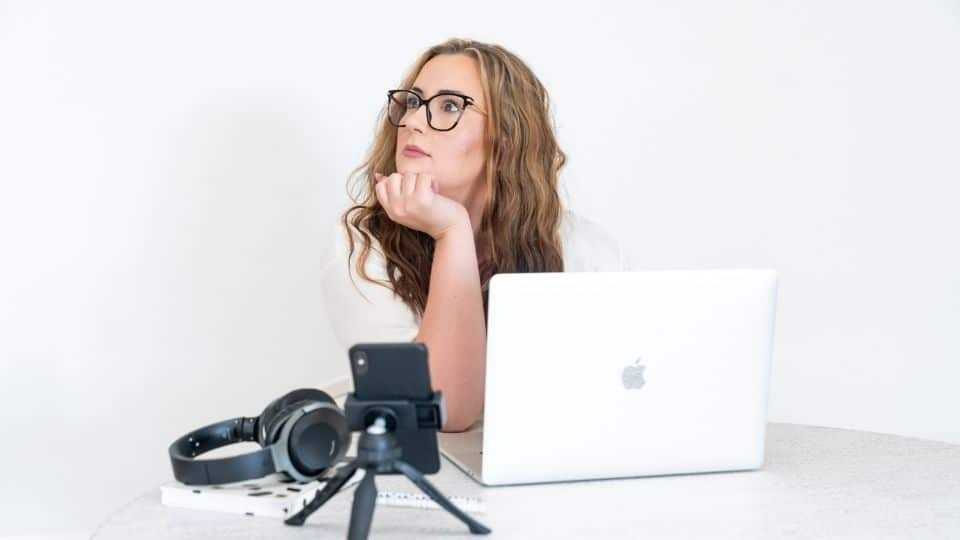 business woman confused about building her first website